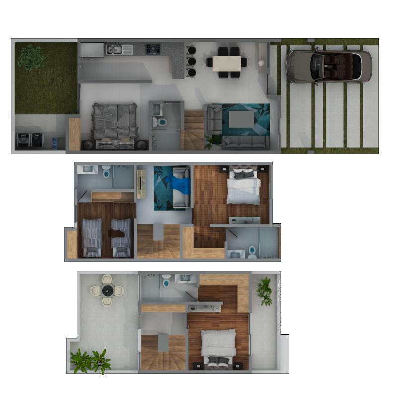 Estancia Bosques - Departamento - Casa tipo Roble