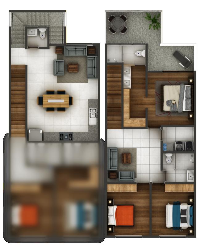 Espacio Chapalita - Departamento - Casa tipo Dublin
