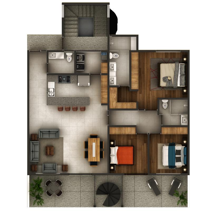 Espacio Chapalita - Departamento - Casa tipo Oslo