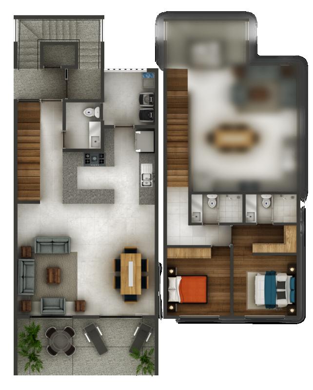 Espacio Chapalita - Departamento - Casa tipo Florencia